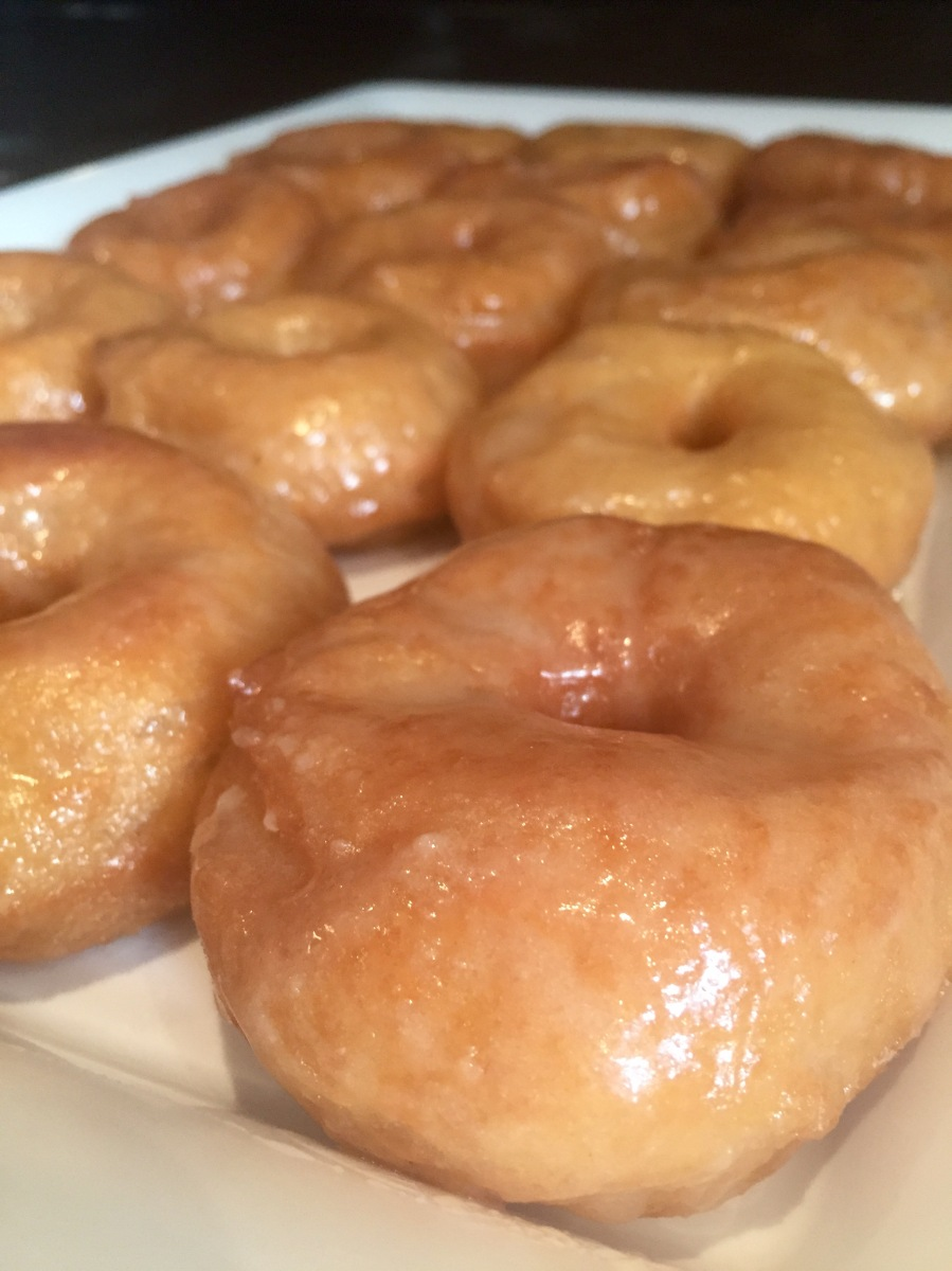 Glazed Donuts a la Krispy Kreme (Whole Wheat)