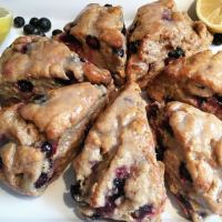 Lemon Glazed Blueberry Scones (Whole Wheat)