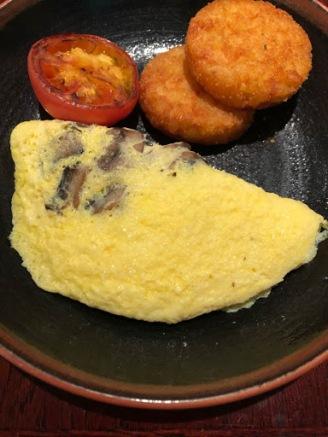 omelet w mushrooms